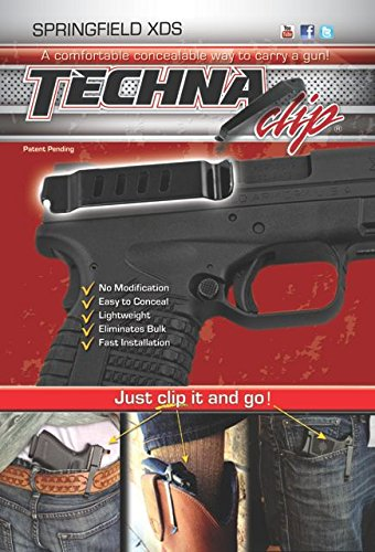 Techna Clip Gun Belt Clip – Springfield XDS (Right-side)