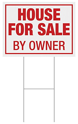 Custom Product Solutions 18 x 24 Inches Full Color Yard Sign, House For Sale by Owner, Red (ZYS02IAL)